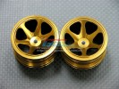 Associated RC 18T Alloy Front/Rear Narrow 3d Sinkage Rims (6 Poles) - 1pr - GPM AR0627F/R/GPM