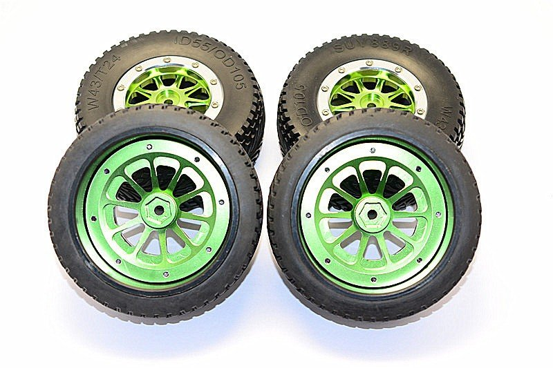 Axial Exo Tire : Axial racing exo rubber front rear tires with nylon rims