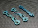 HPI Savage 21 Graphite Front/Rear Arm Lock Plate (Blue) - 3pcs - GPM GSAV1052B