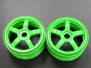 Hyper 7 /Rc8 Nylon Wheel For 1/8 Buggy(5 Poles) Green - 1pr - GPM BUGW0105/G