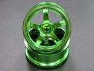 Hyper 7 /Mp9 Nylon Wheel For 1/8 Buggy(5 Poles) Green - 1pr - GPM BUGW0105/MC