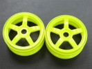 Hyper 7 /Mp9 Nylon Wheel For 1/8 Buggy(5 Poles) Green - 1pr - GPM BUGW0105/Y