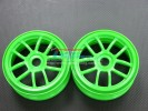 Hyper 7 /Mp9 Nylon Wheel For 1/8 Buggy(5 Poles) Green - 1pr - GPM BUGW1105/G