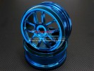 Hyper 7 /Mp9 Nylon Wheel For 1/8 Buggy ( 10 Poles ) With Multiple Color Anodized-1pr - GPM BUGW1105/MC