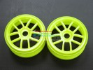 Hyper 7 /Mp9 /Rc8 Nylon Wheels For 1/8 Buggy(10 Poles) Yellow- 1pr - GPM BUGW1105/Y