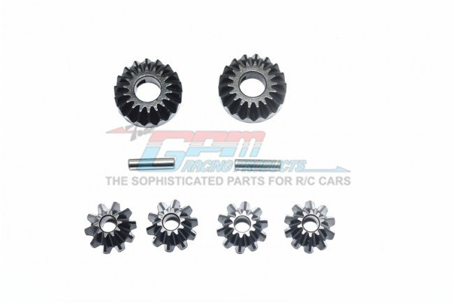 THUNDER TIGER K-ROCK MT4 Harden Steel #45 Differential Bevel Gear & Pinion Gear - 8pc set - GPM KG1200S