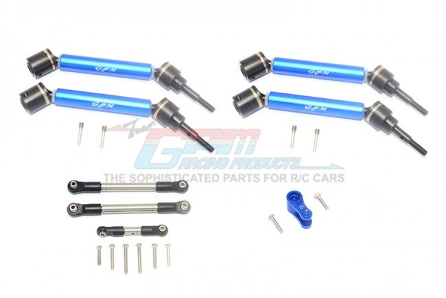 TRAXXAS MAXX MONSTER TRUCK Stainless Steel Tie Rod+25T Servo Horn&steel F+R Adjustable CVD Drive Shaft - 20pc set - GPM TXMS1625123