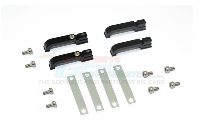 TRAXXAS TRX4 TRAIL CRAWLER Aluminum Door Handle For TRX-4 Defender - 16pc set - GPM TRX4ZSP10B
